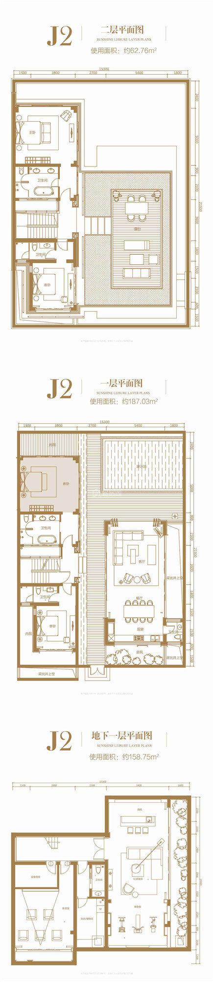 别墅J2户型 4室3厅6卫