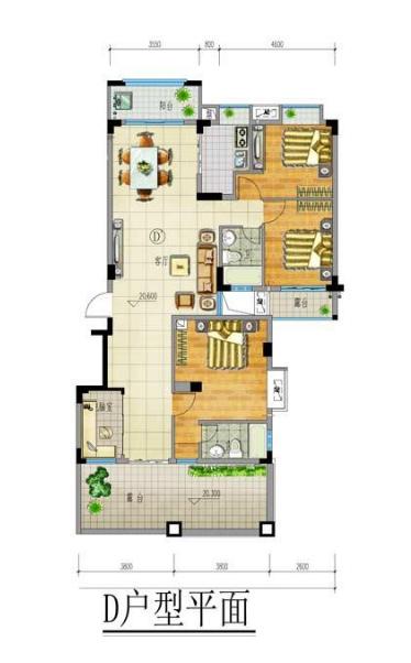 兴隆家和园D户型4室2厅2卫