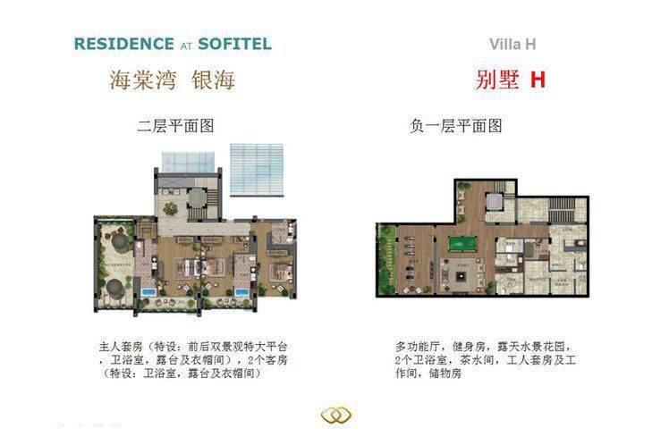 别墅H户型 4室4厅9卫1厨