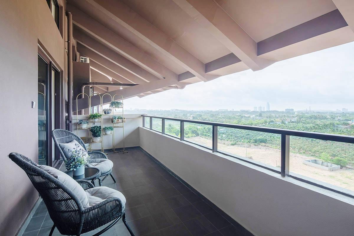 100㎡平阁户型-二楼阳台